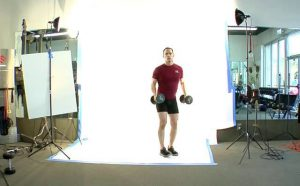 Lunging to Overhead Press