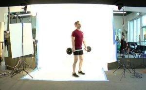 Short Squat to Over Head Press (full body)