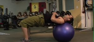 Stability Ball Hip-ups