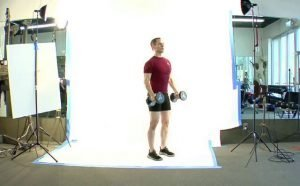 Hammer Bicep Curl into Short Overhead Press