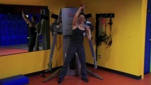 Shoulder/Back/Torso/Hips Integration: Single Arm Alternating Overhead Press with Obvious Weight Shift