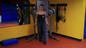 Shoulder/Core Midline Stabilization: Anterior Deltoid Raises through Alternating Steps