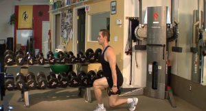 Compound Lunge/ Shoulder Swing (advanced)