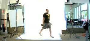Jump Switch Lunges With Free Weights SIDE View