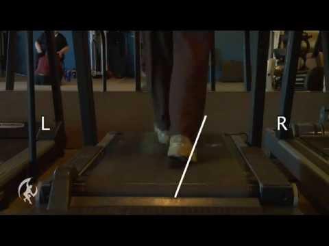 Person walking on a treadmill
